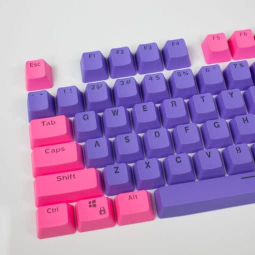 Pink on Purple OEM Translucent Keycaps Main