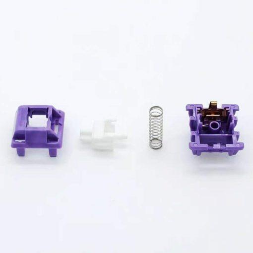 Tecsee Purple Panda Tactile Switch Opened