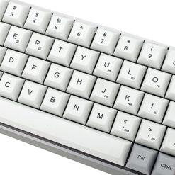 GK64x with Aluminum Case DSA Keycaps Close