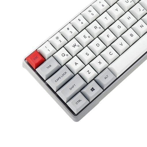 GK64x with Aluminum Case DSA Keycaps Left