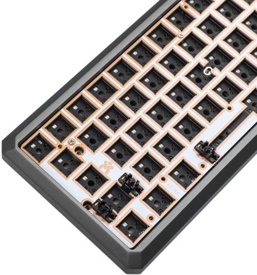 GK64xs Aluminum Case Hotswap 64 key keyboard left